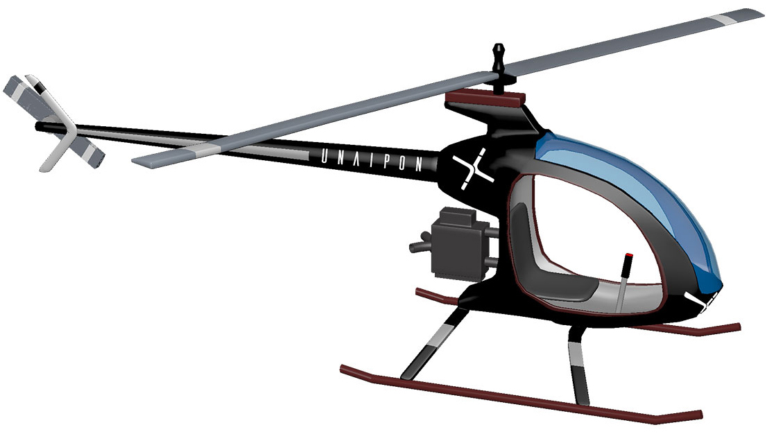 Unaipon Helicopter livery design