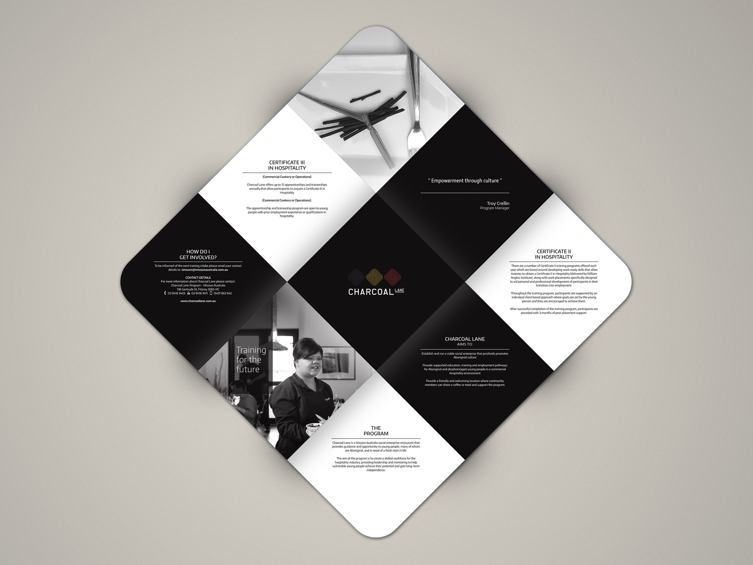 Charcoal Lane Cook Book - promotional brochure