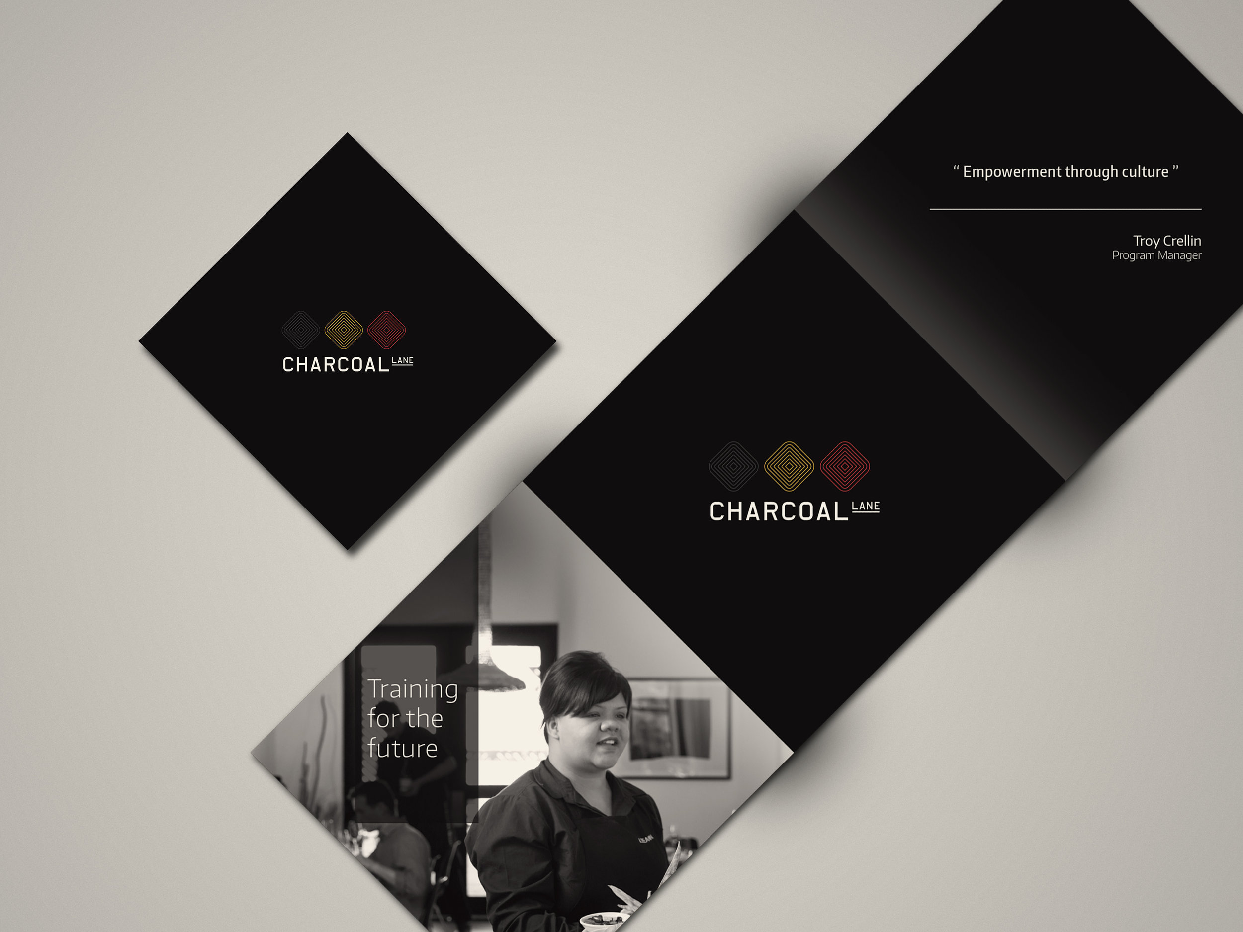 Charcoal Lane Cook Book - promotional brochure  (folded)