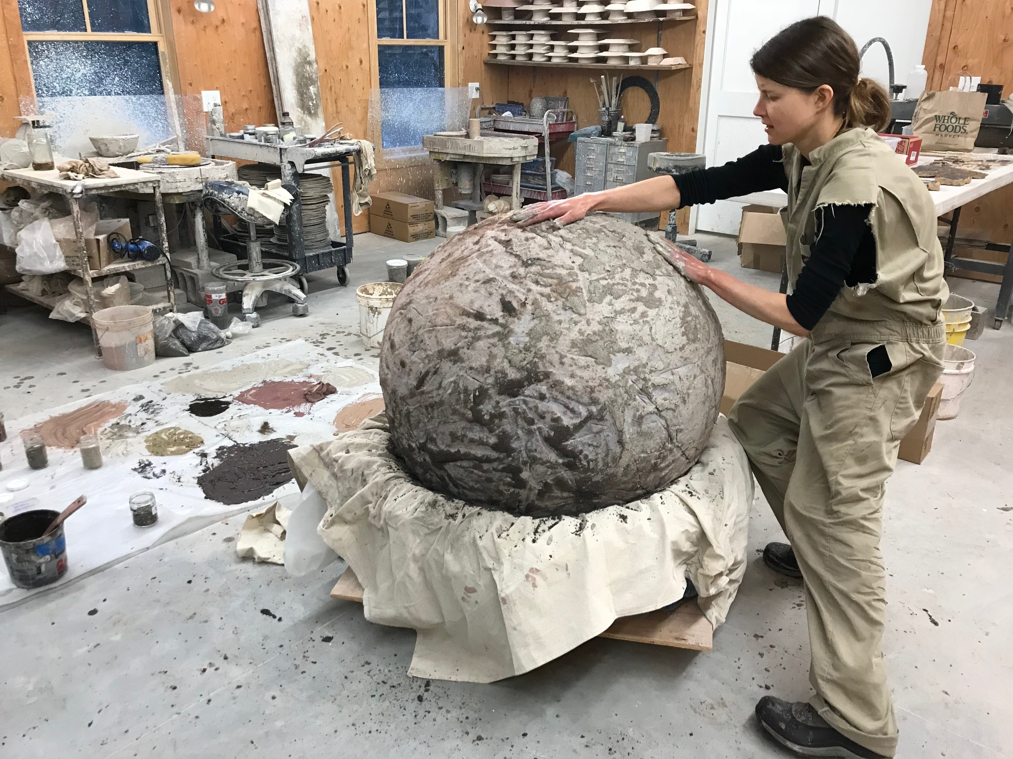 Ceramic Orb in Process III