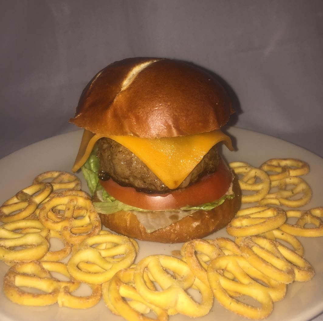 Pretzel Burger Bun