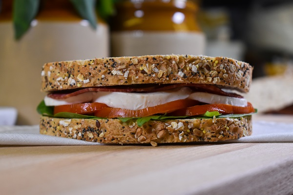 7 Seeded Bloomer with rocket, tomato, mozzarella and salami