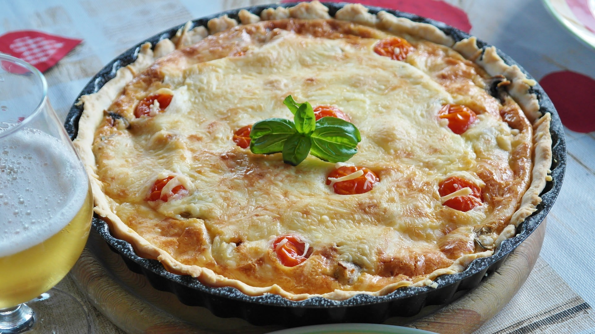 bacon and leek quiche - Coeliac disease awareness week is the perfect opportunity to give gluten free pastry a go. Jamie Oliver uses bacon and leeks but you can add your own favourite veggies and meats to make a delicious quiche.*Image shown is not from the recipe provided.
