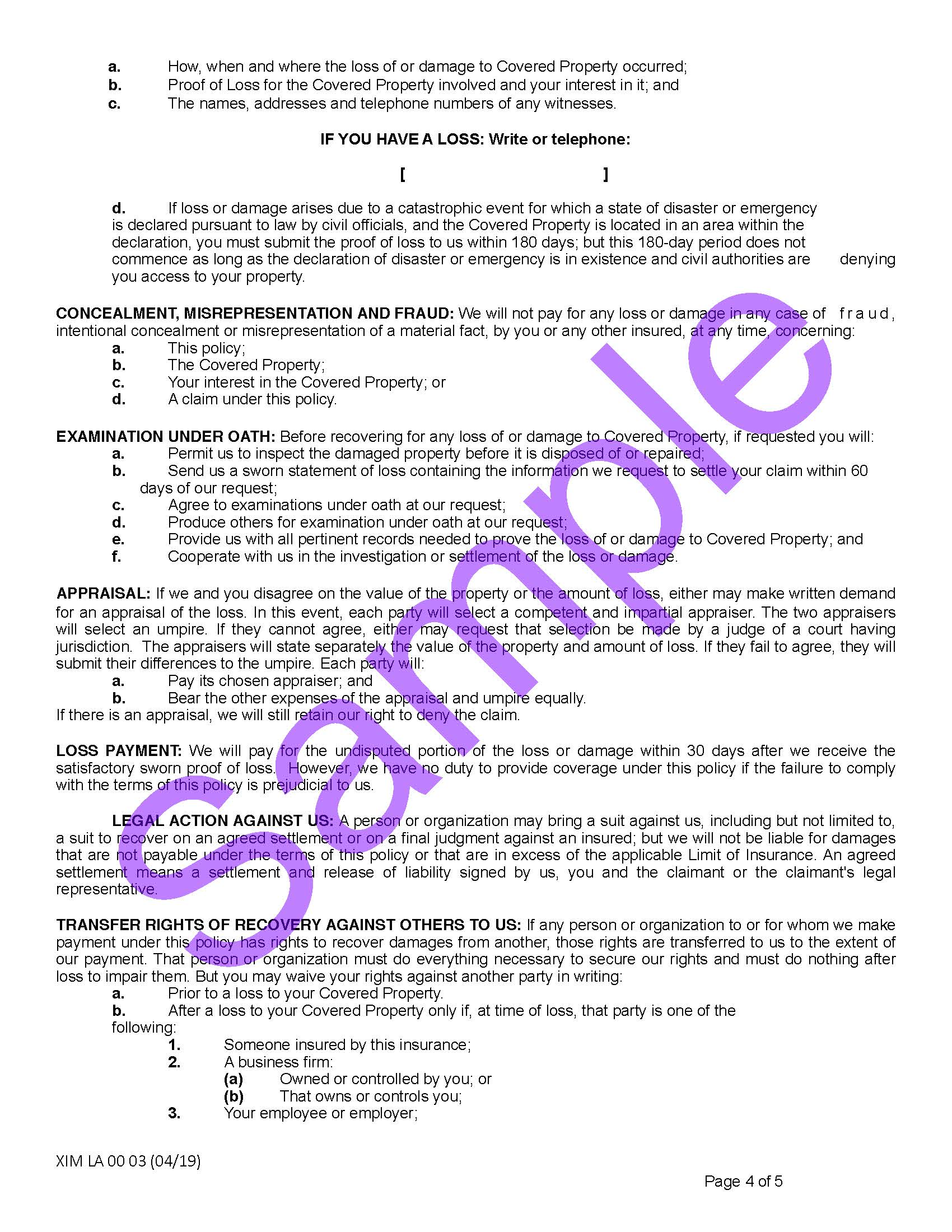 XIM LA 00 03 04 19 Louisiana Certificate of InsuranceSample_Page_4.jpg