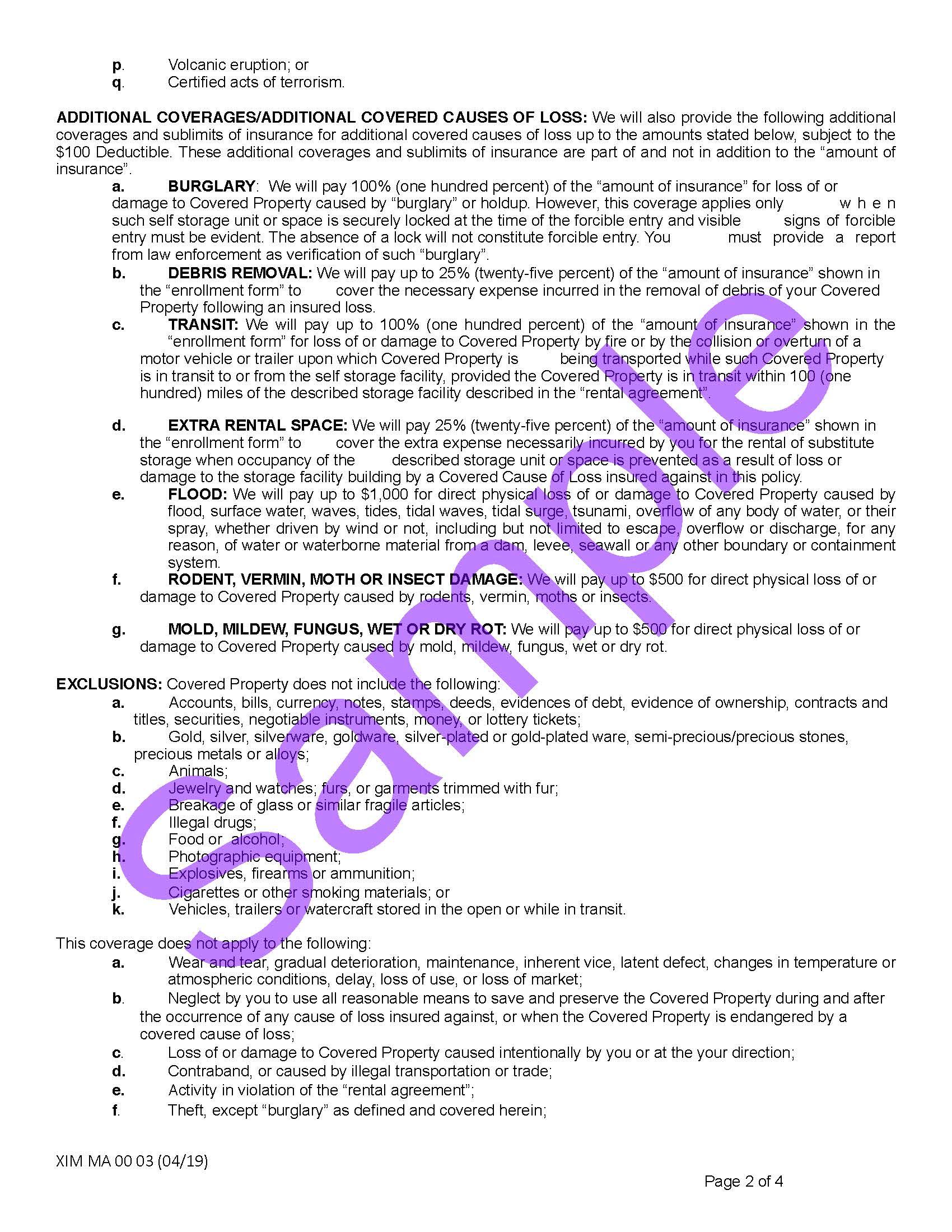 XIM MA 00 03 04 19 Massachusetts Certificate of Storage InsuranceSample_Page_2.jpg