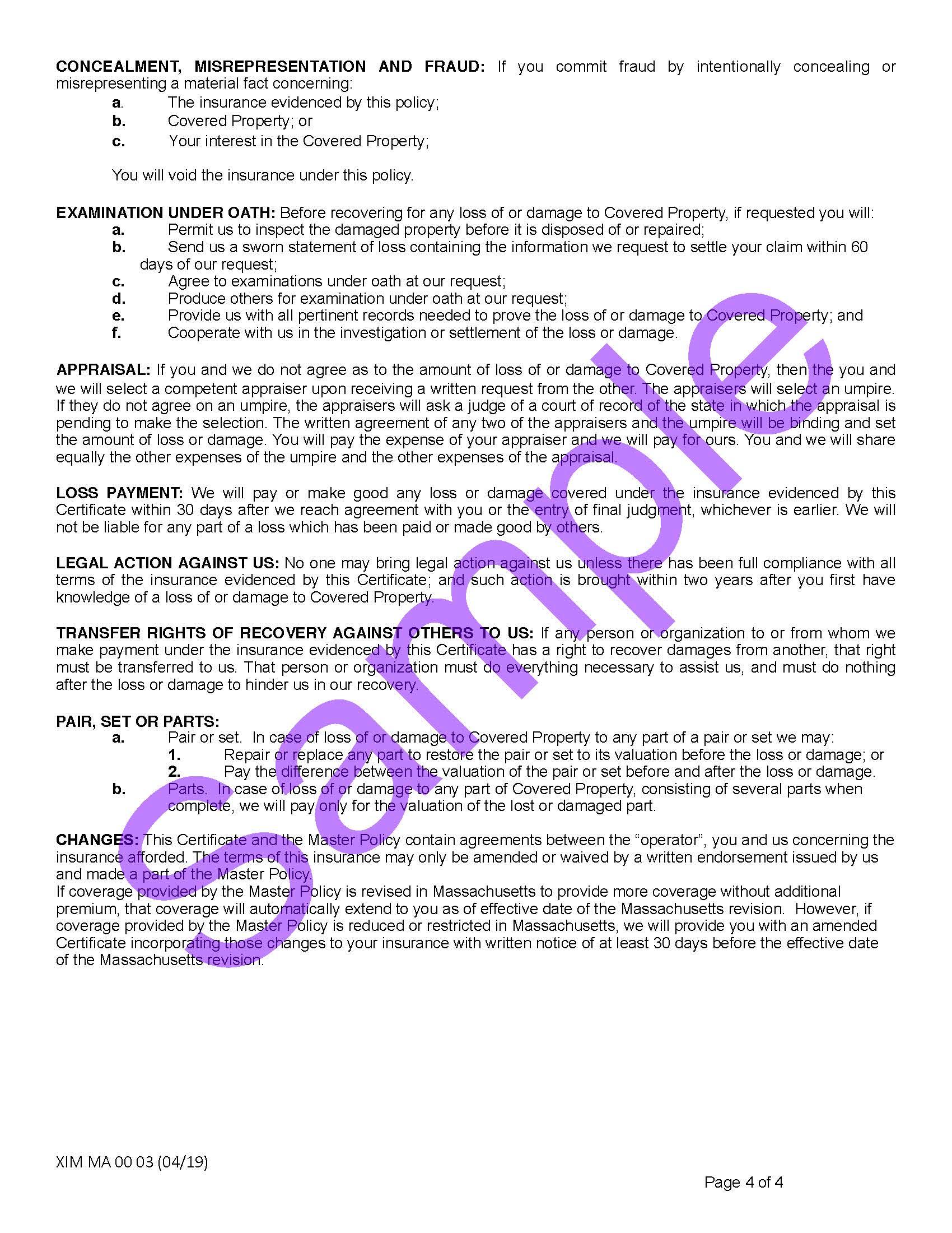 XIM MA 00 03 04 19 Massachusetts Certificate of Storage InsuranceSample_Page_4.jpg