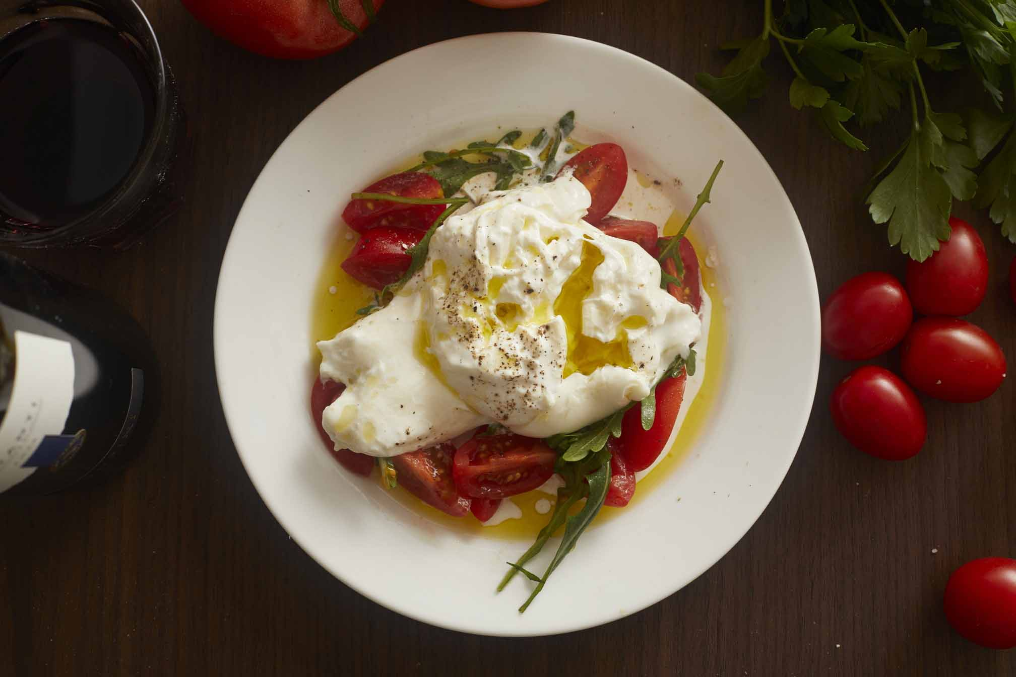 Creamy, delicious, oh-so-perfect burrata.