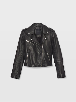 Gracella Leather Moto Jacket  HK$6990