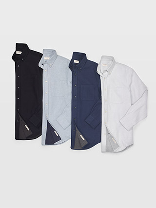 Slim Double-Faced Twill Shirt  HK$1090
