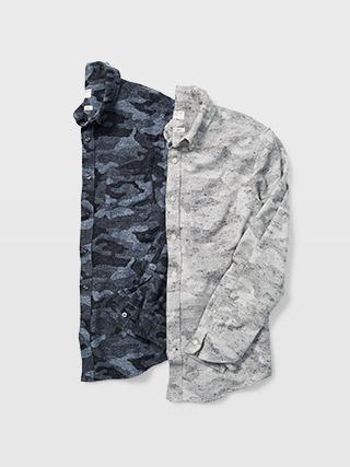 Slim Camo Donegal Shirt  HK$1290