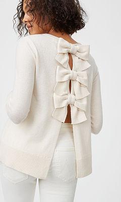 Sidone Bow Cashmere Sweater  HK$3390