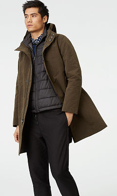 Hooded Tech Mac Coat  HK$4690