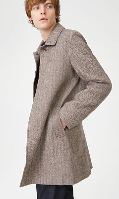 Herringbone Car Coat  HK$4990