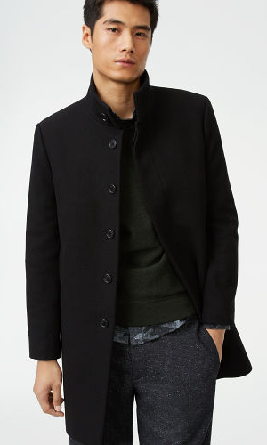 Funnel-Neck Topcoat  HK$4690