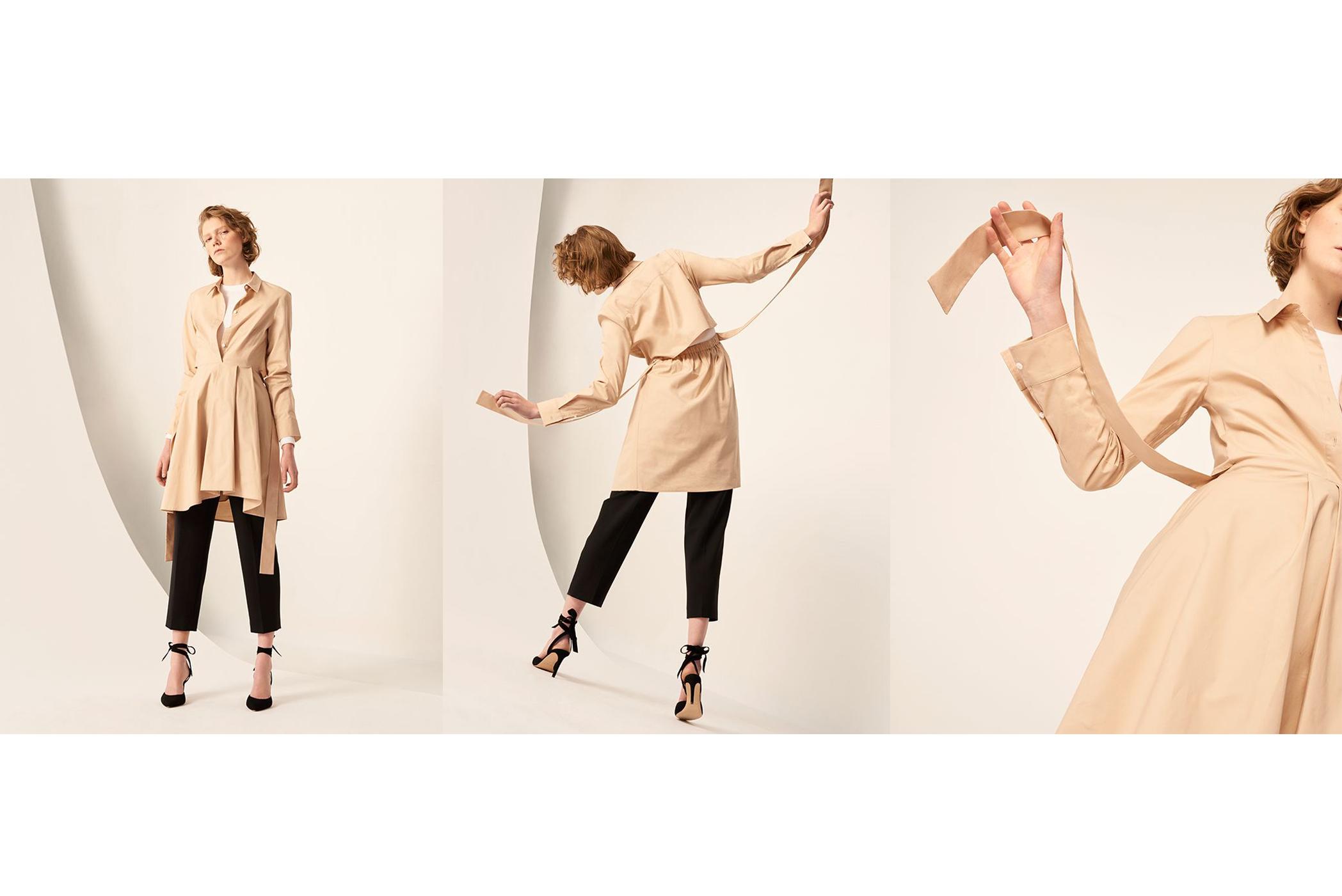 CAROLENA TOP, SHAPIRA DRESS, BORREM PANT, SHOBANA PUMP