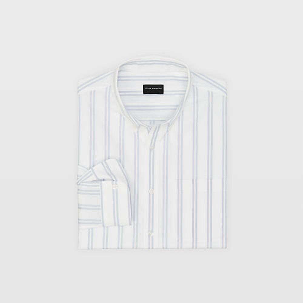 Slim End-On-End Stripe Shirt   was HK$1,090   now HK$763