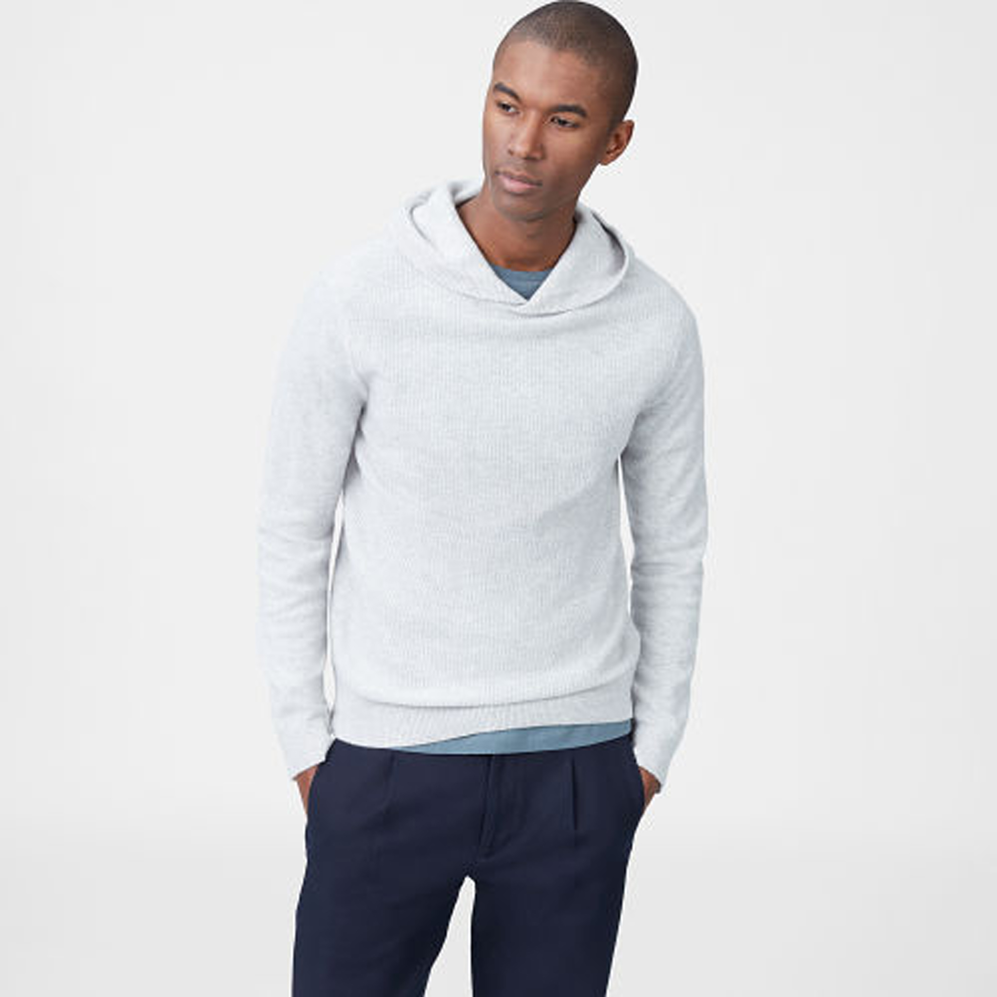 Cashmere Ribbed Hoodie  HK$3,090