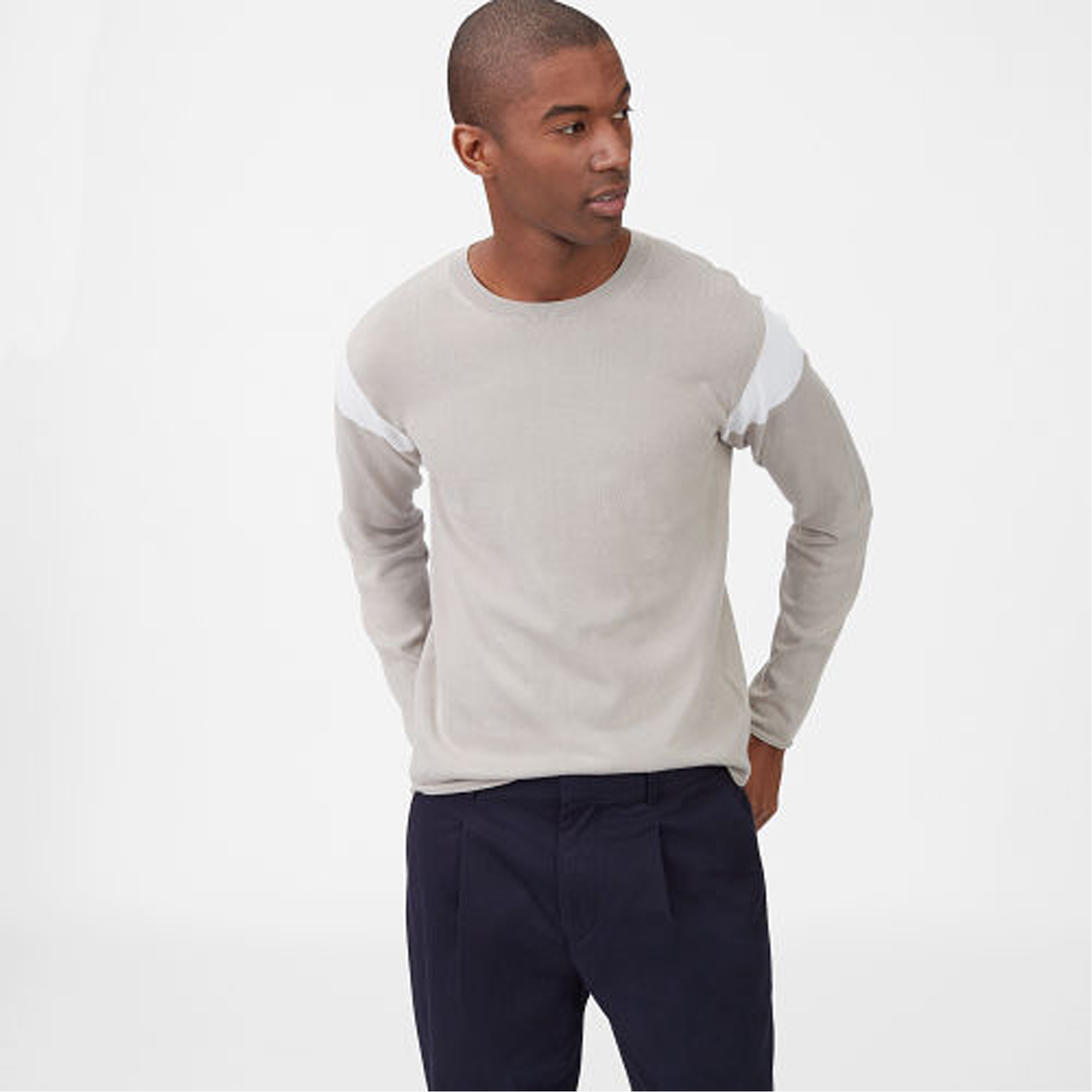 Colorblock Crewneck Sweater  HK$1,490