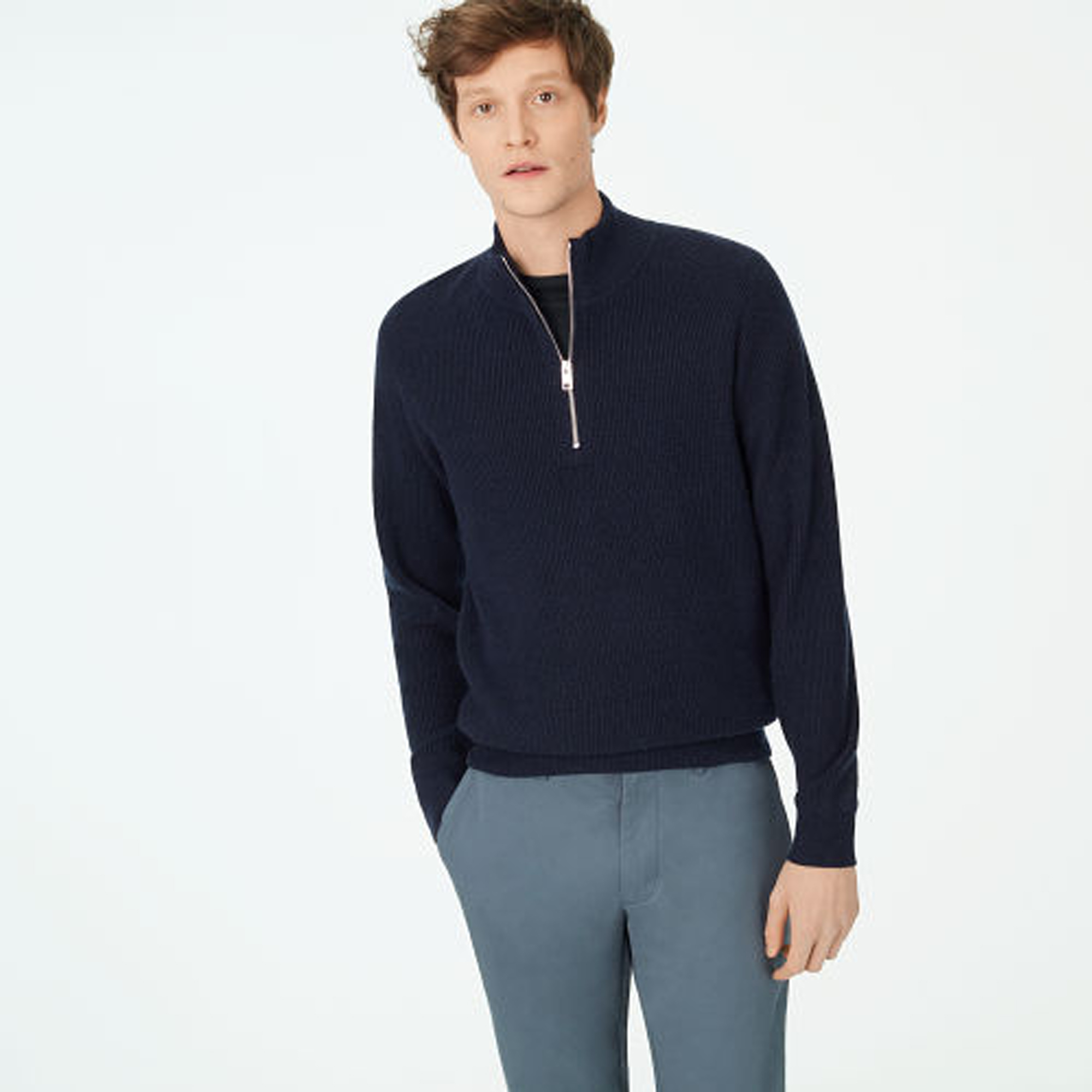 Cashmere Quarter-Zip Sweater  HK$3,490