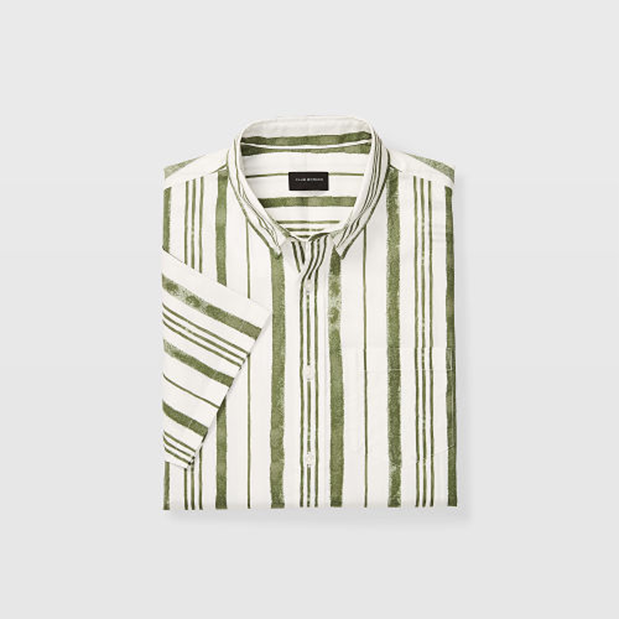Slim Short-Sleeve Stripe Shirt   HK$890