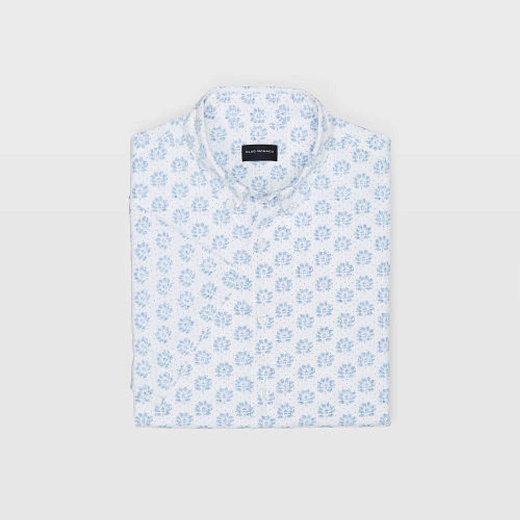 Slim Seersucker Floral Shirt   HK$890