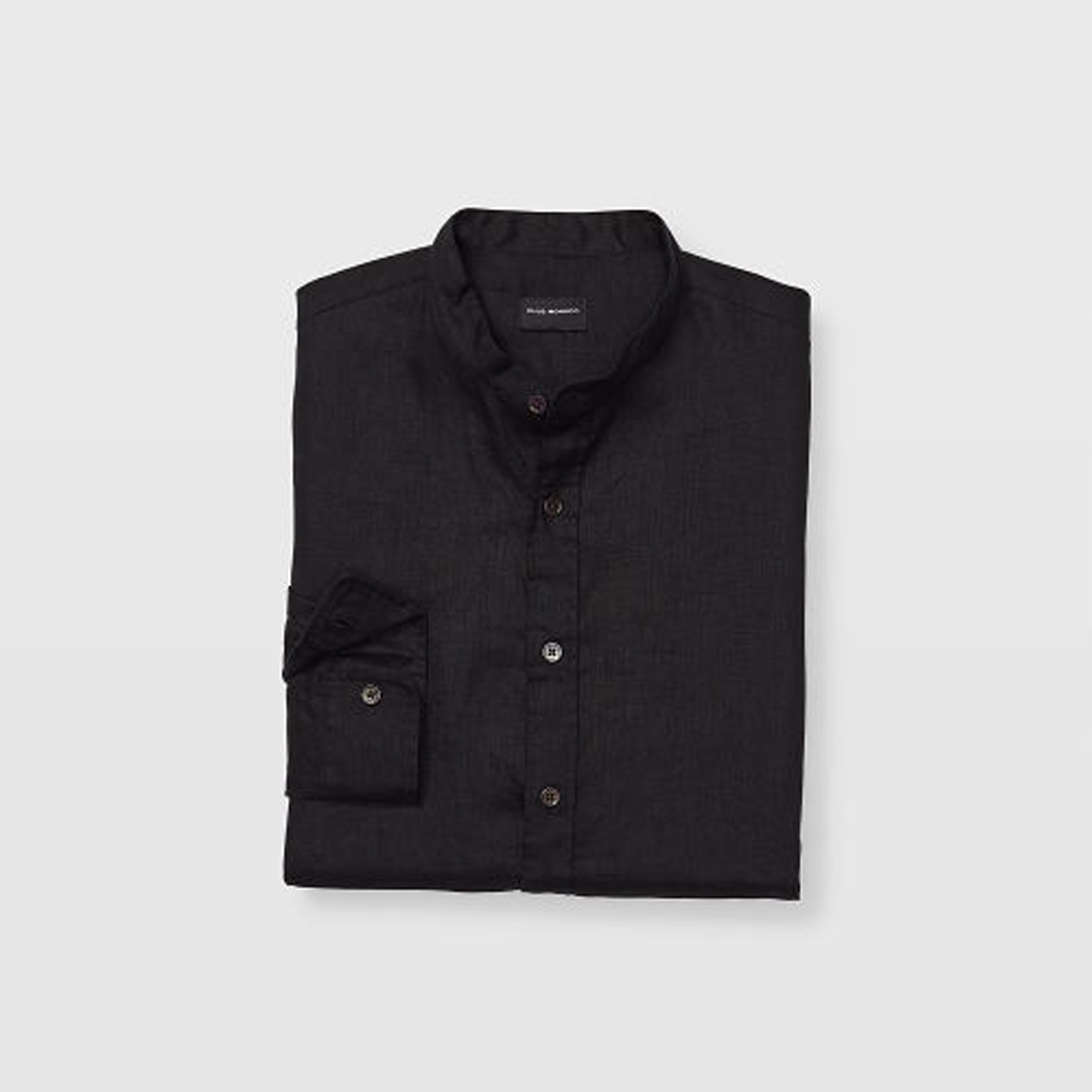 Slim Linen Band-Collar Shirt   HK$990