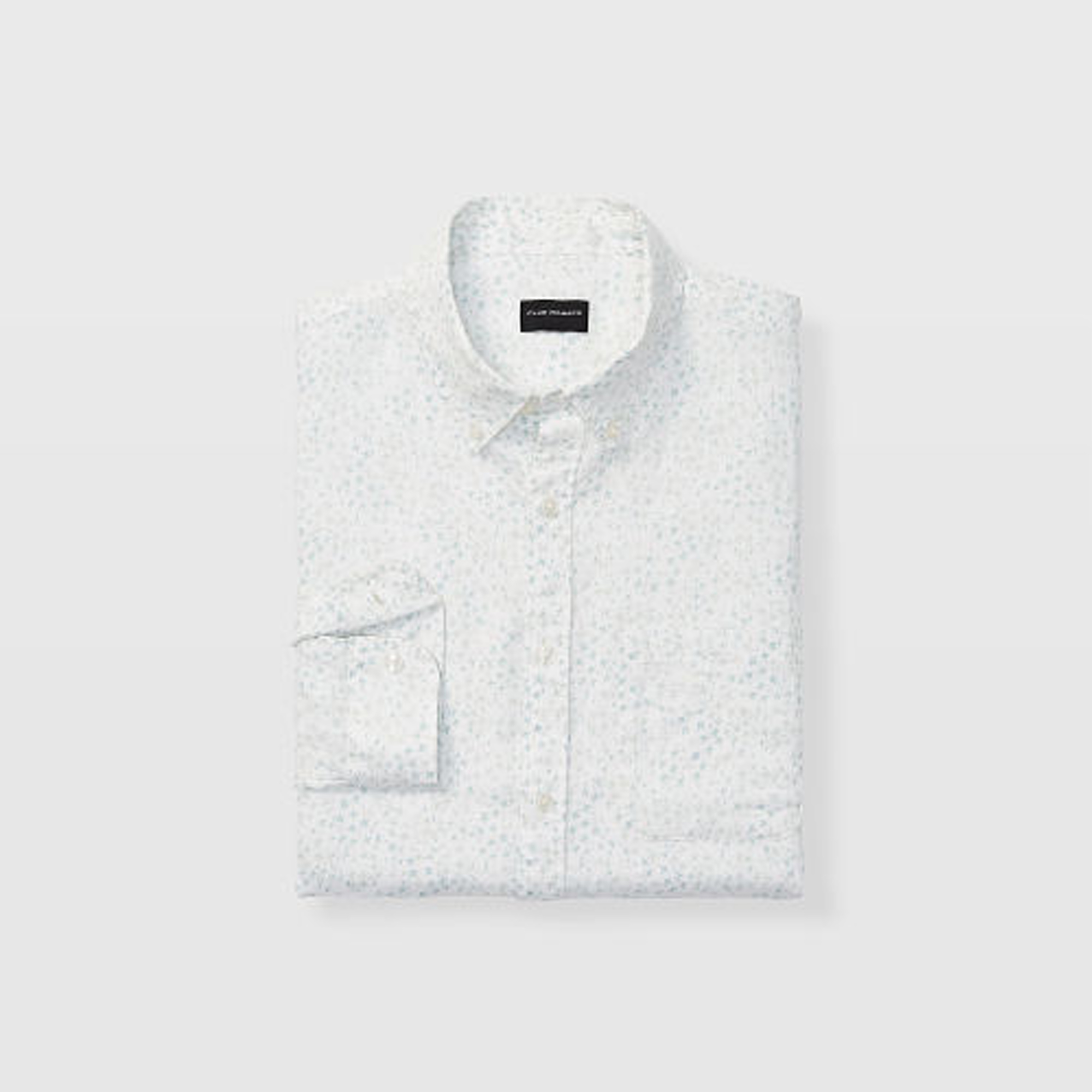 Slim Bandana Ditsy Linen Shirt   HK$1,290