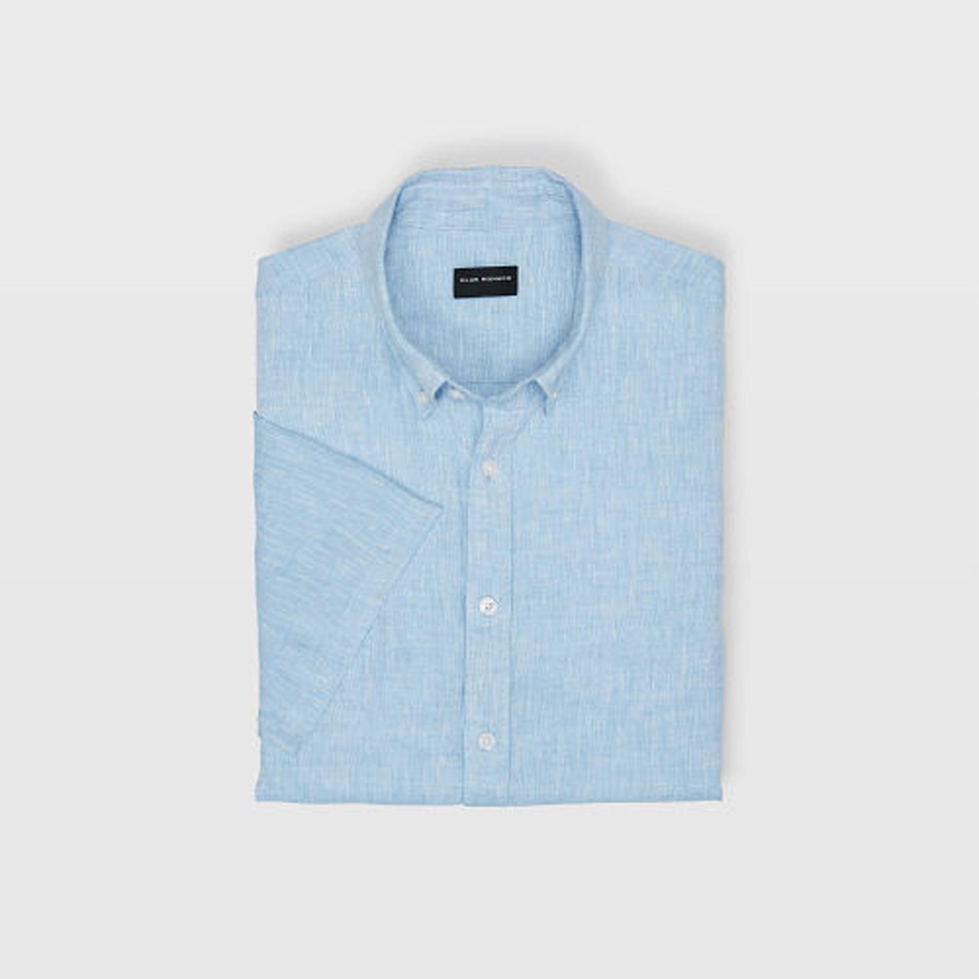 Slim Cross Dye Linen Shirt   HK$1,090