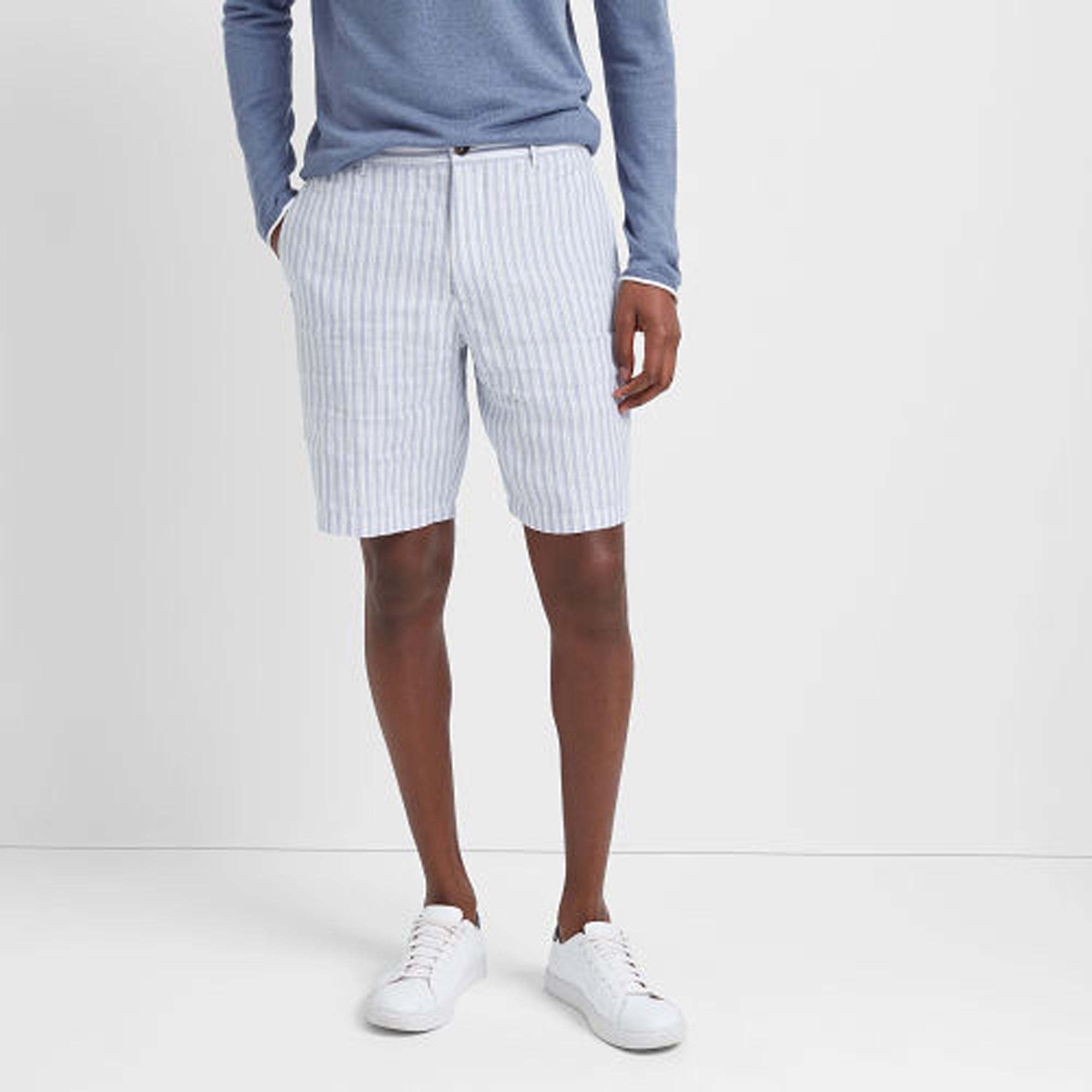 "Maddox 9"" Linen Stripe Short   HK$1,190"