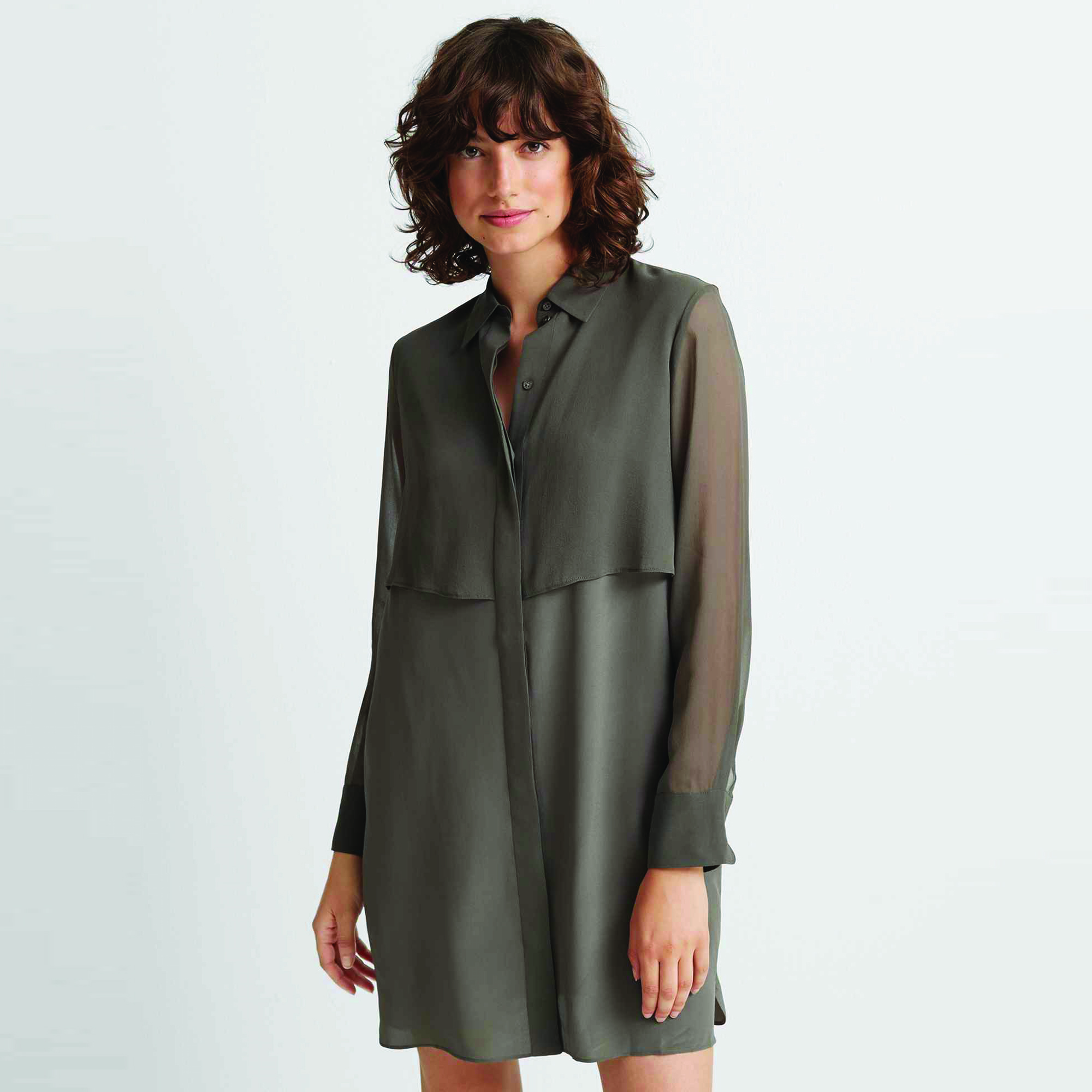 Drape Front Dress Khaki.jpg