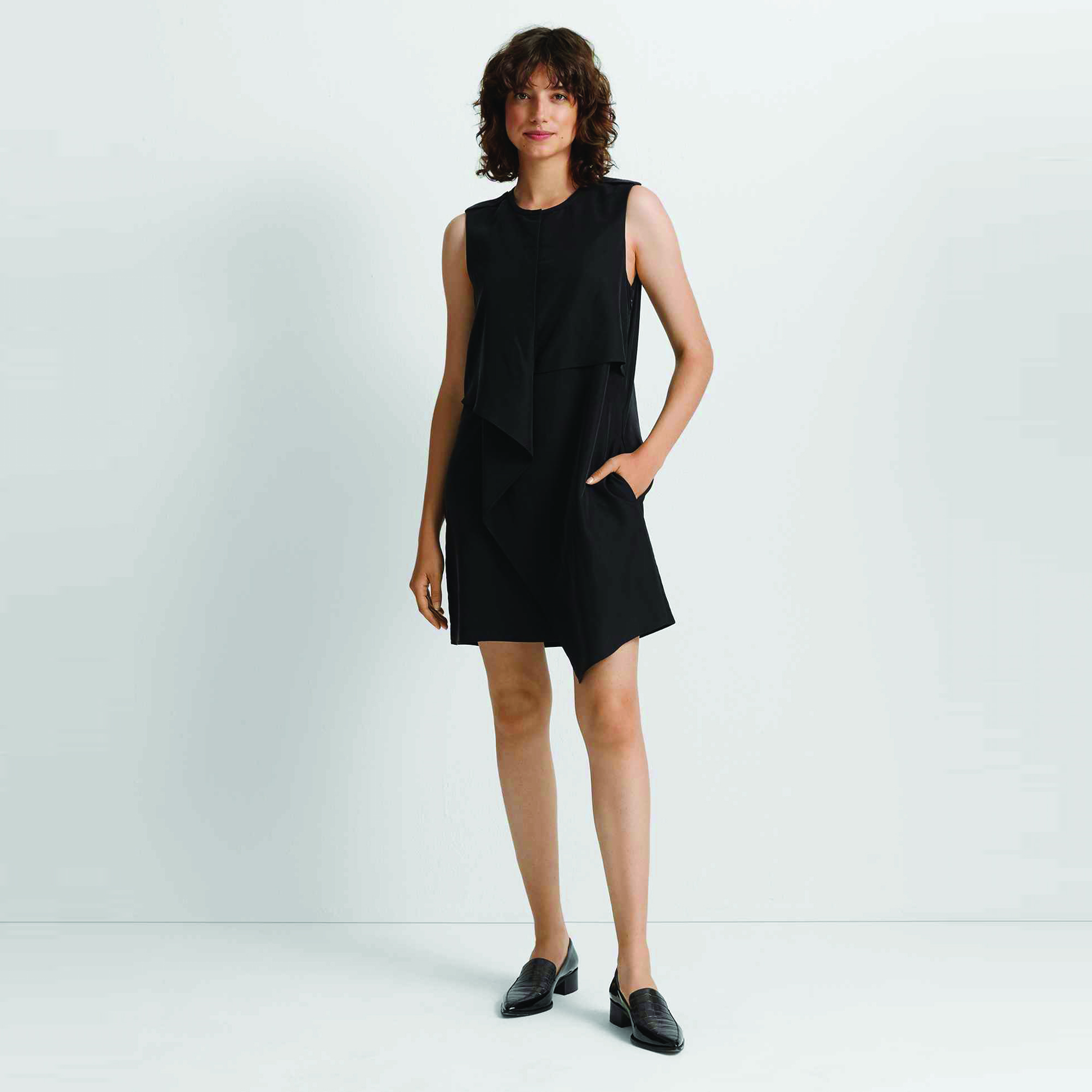 Drape Front Dress Black.jpg