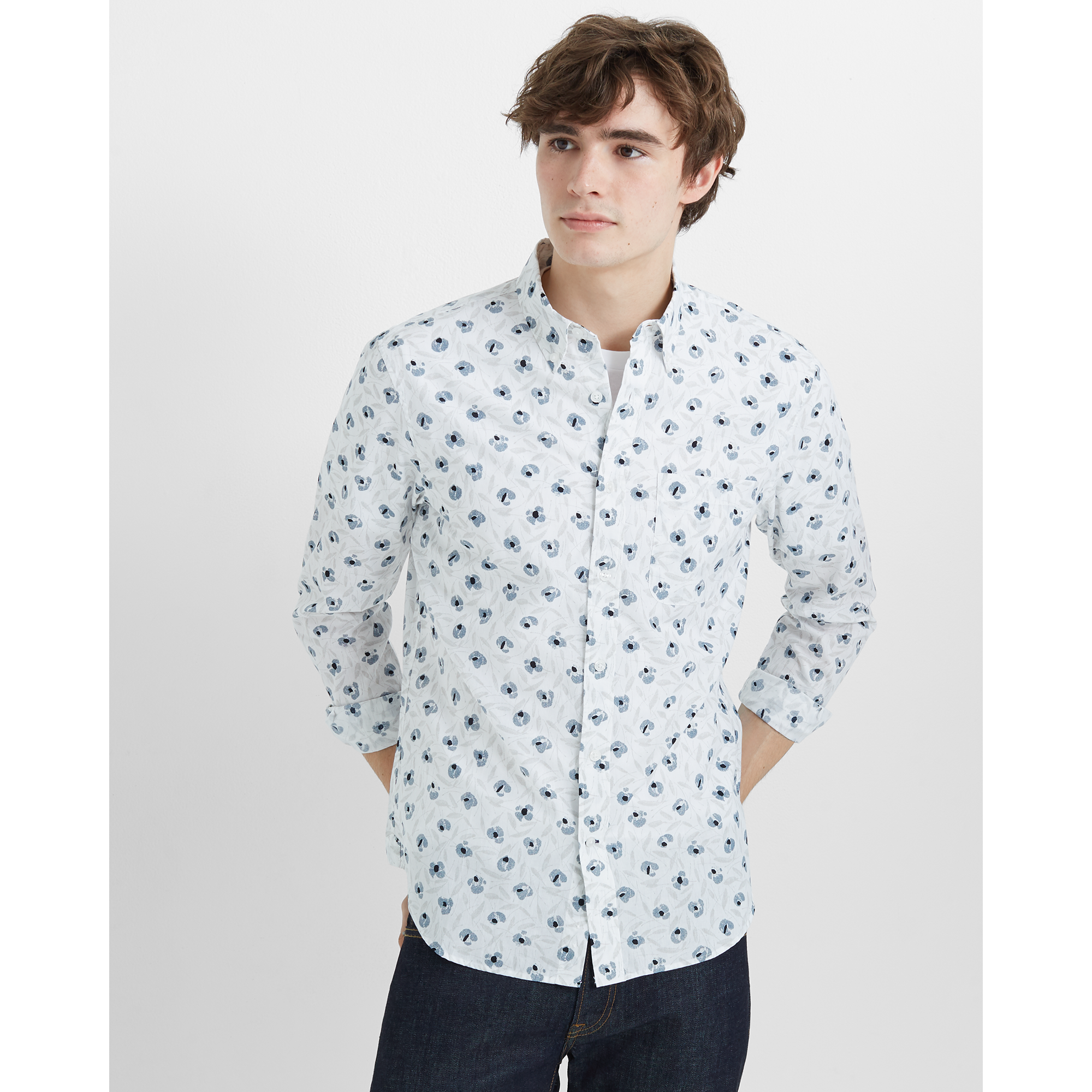 Slim Feather Floral Shirt