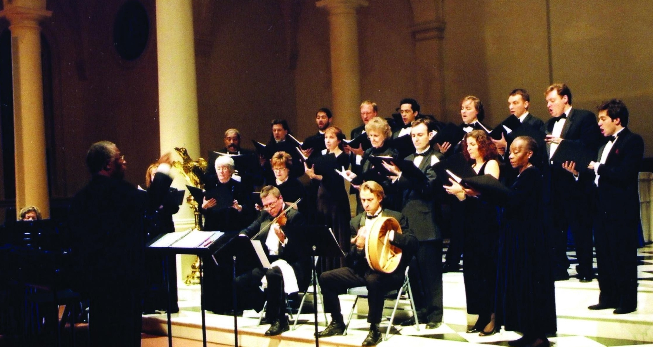 Performing at Church of the Holy Apostles, New York City, 2003.