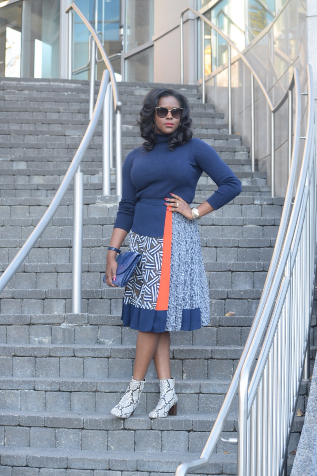 DVF Skirt (on sale now! here ), Ralph Lauren Turtleneck ( here ), J Crew Booties (recently sold out, however J Crew has four styles with this print  here )