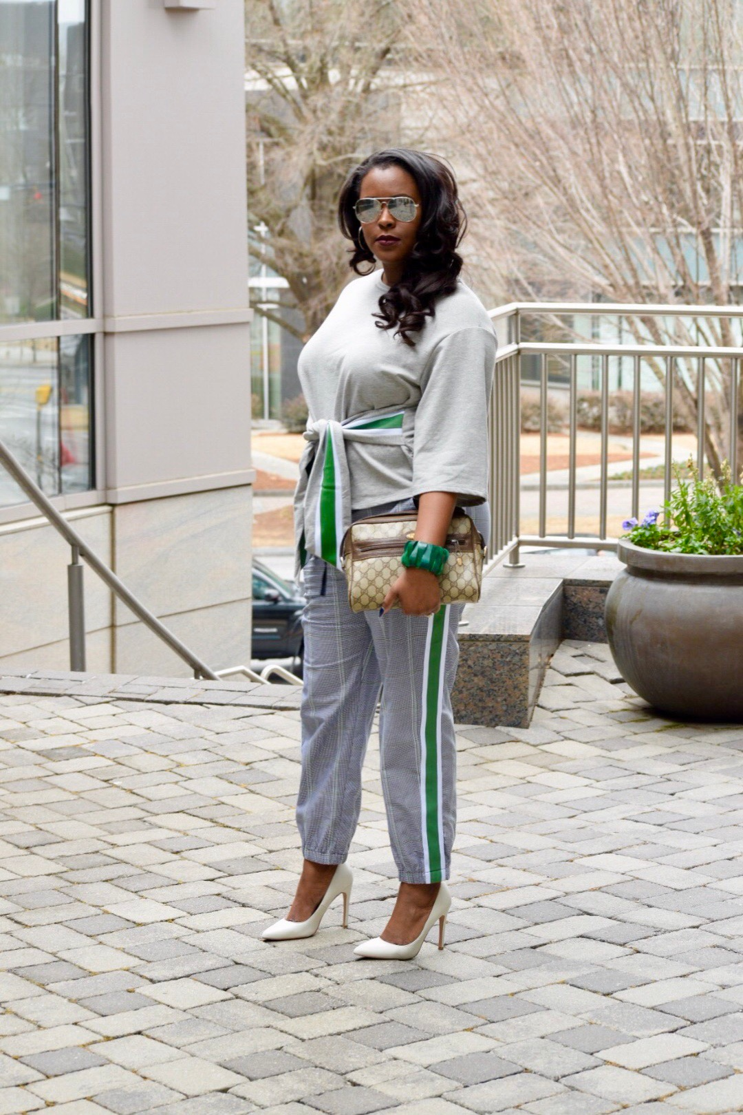 Target's Who What Wear Outfit ( top  &  pants ), Aldo Shoes (similar  here ), Vintage Gucci Hangbag