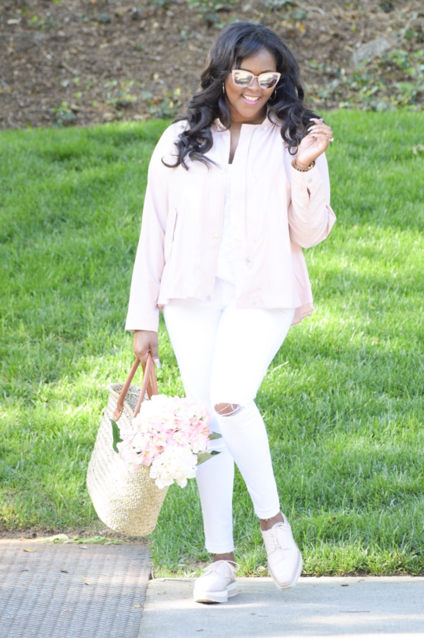 Zara  Jacket  & Platform  Shoes , Old Navy  Jeans , Gap  Tote , Lily Pulitzer Shirt (old), Sunnies (old)