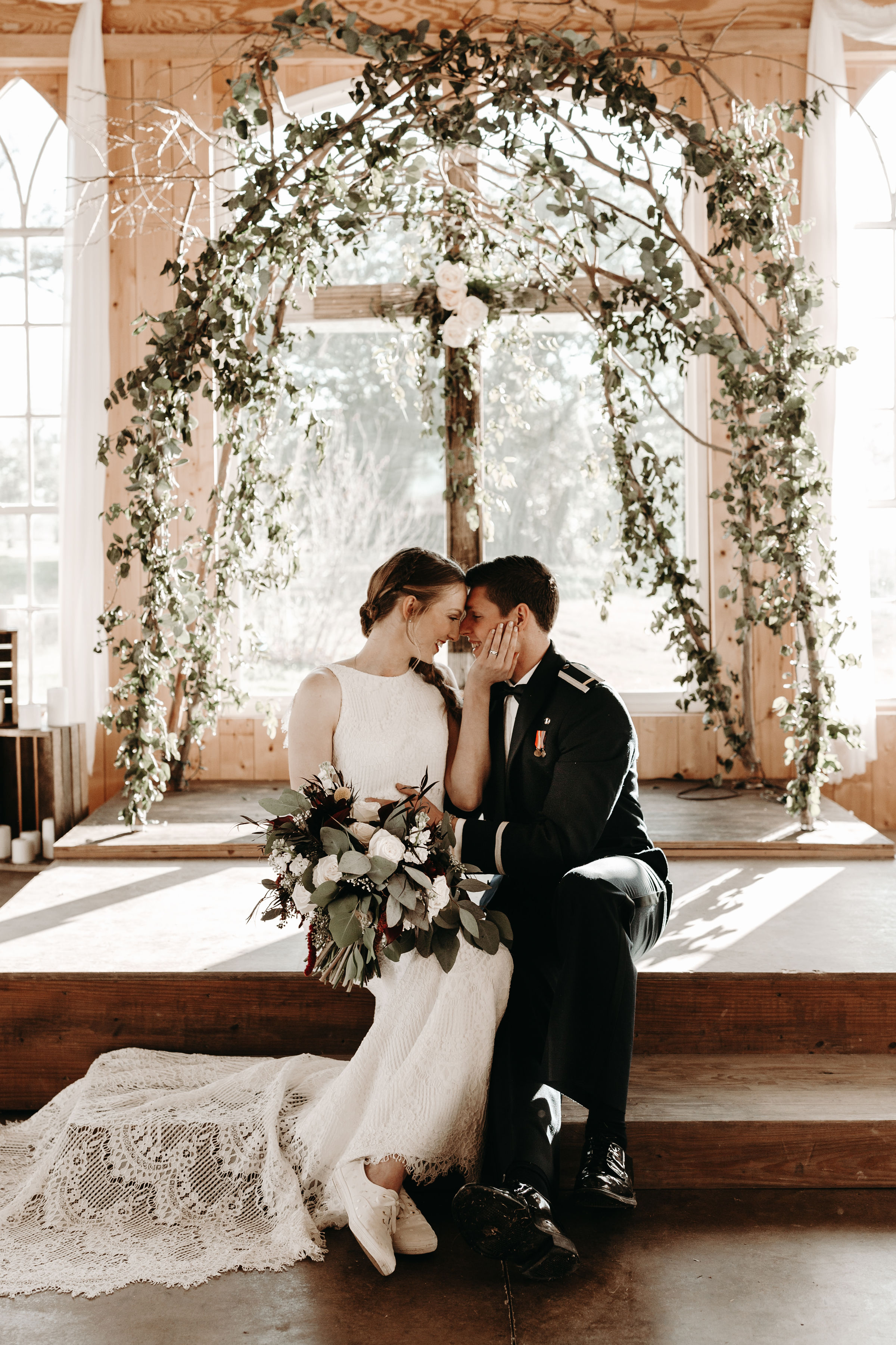 """- """"Breanna shot our engagement and wedding photos! She was super easy to work with and the photos are beautiful! My husband and I are so grateful she was willing to drive to Texas for our wedding during the Christmas season. I can not recommend her enough! Thanks Breanna!"""""""