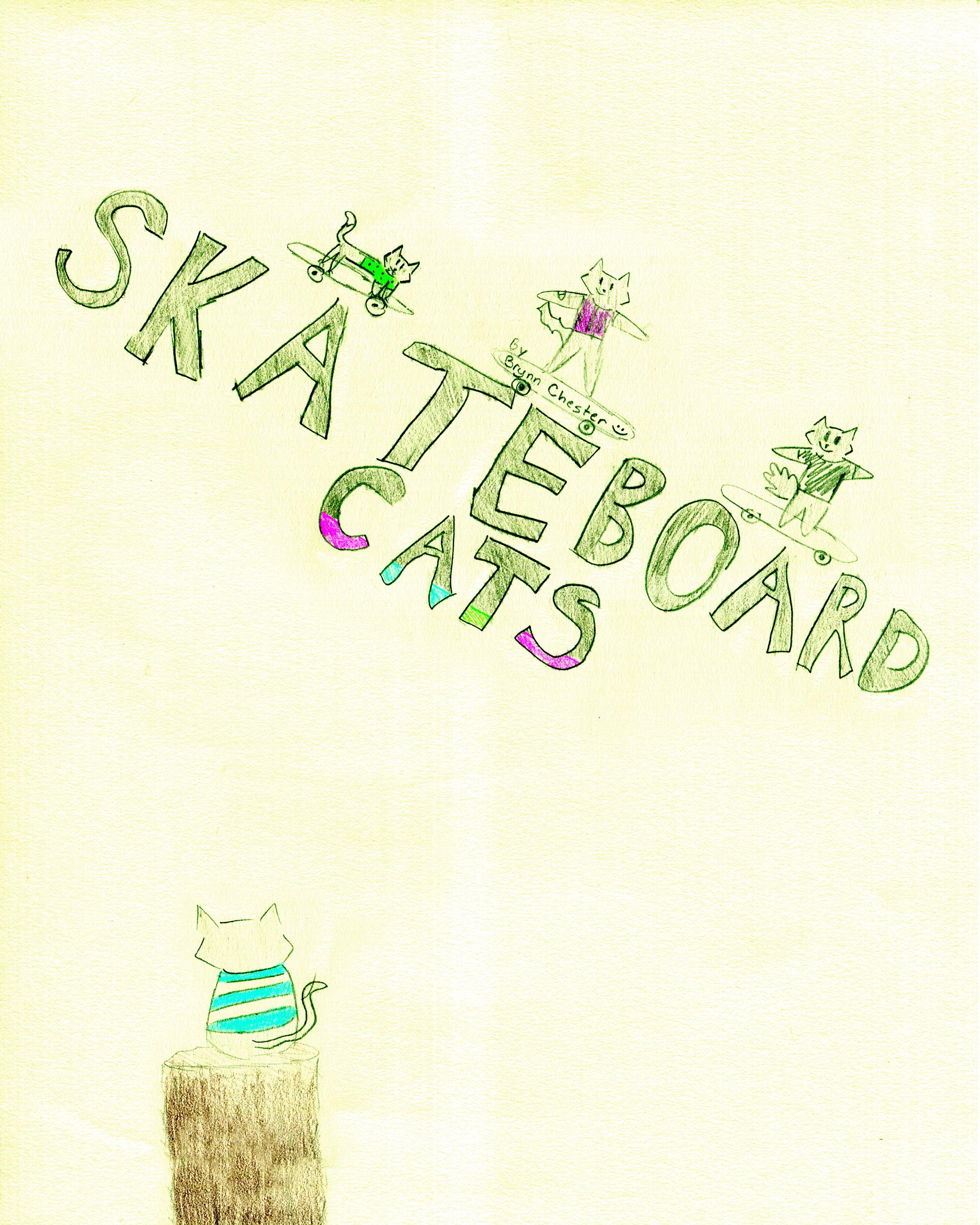 Skateboard Cats    by Brynn Chester