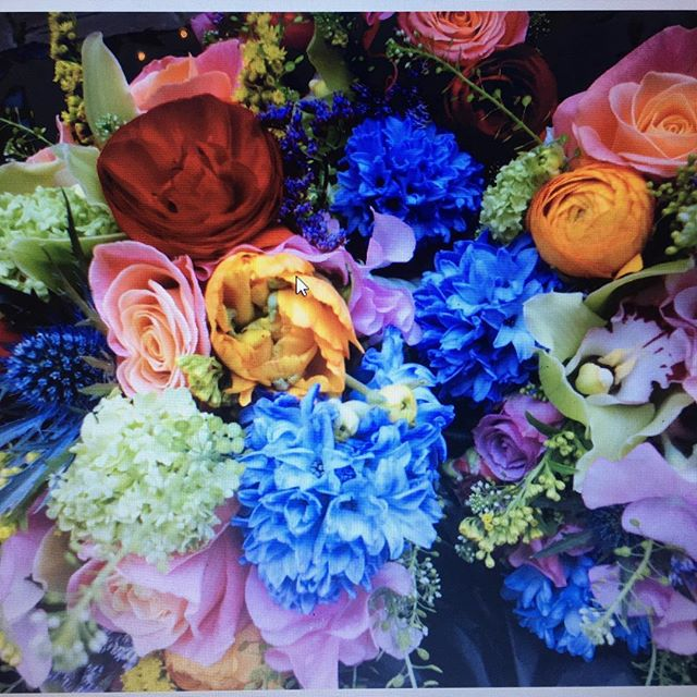 When you are not afraid of a little colour in your bridal bouquets #wedding #colourfulwedding