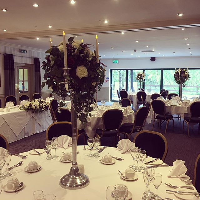 Our silver candelabras on show at the newly converted Woodlands suite at @chevinhotel