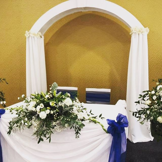 A little outing for our white arch and aisle carpet at Weetwood Hall .