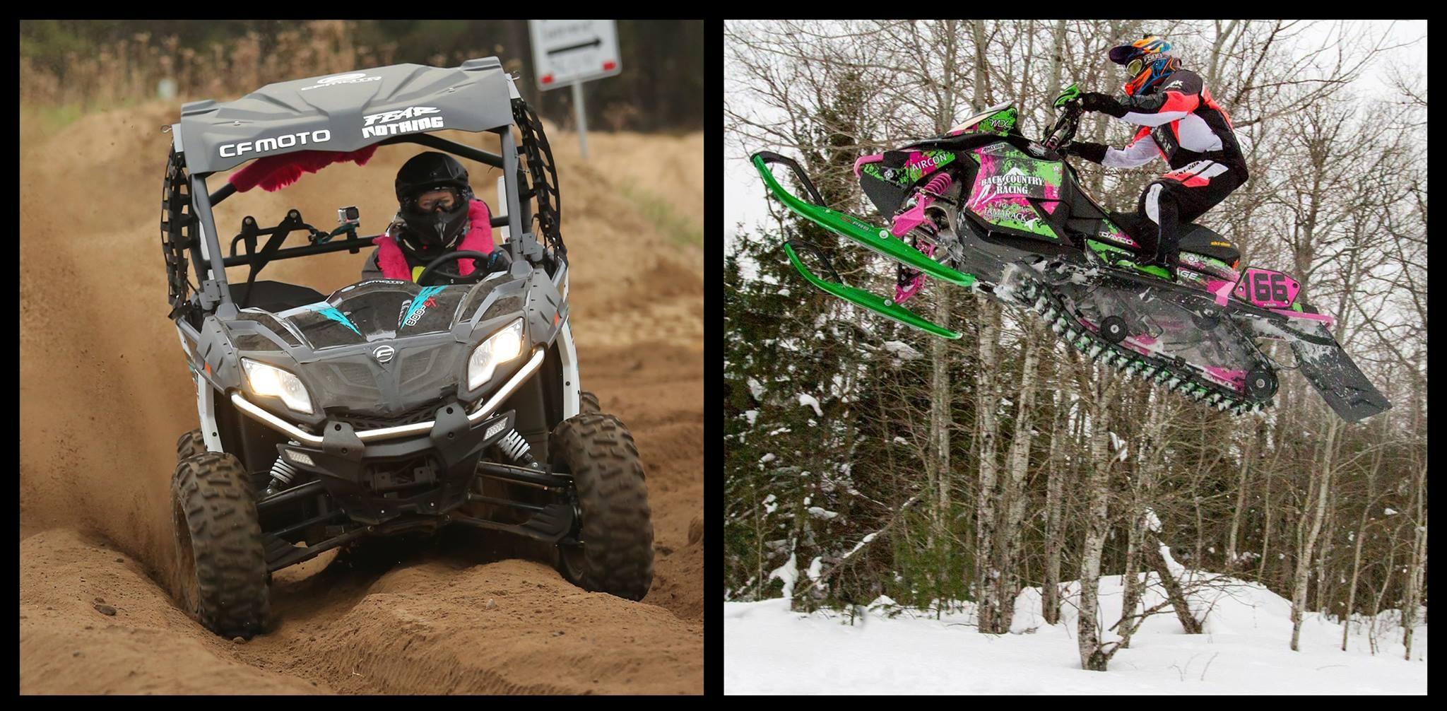 Shelby is also a highly skilled SXS and Snowmobile racer.