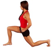 Hip Flexor Stretch    Why : tight hip flexors attach at the inside and front of the hip and into the low back. If they are tight, they can limit our back swing of our leg. Putting more stress on the leg joints.   How : in a lunge position, you can drop the back knee to the ground and keep the back upright tucking the tailbone under the pelvis and forward. That stretch should be felt in the front of the hip. Hold for (20-40 seconds).