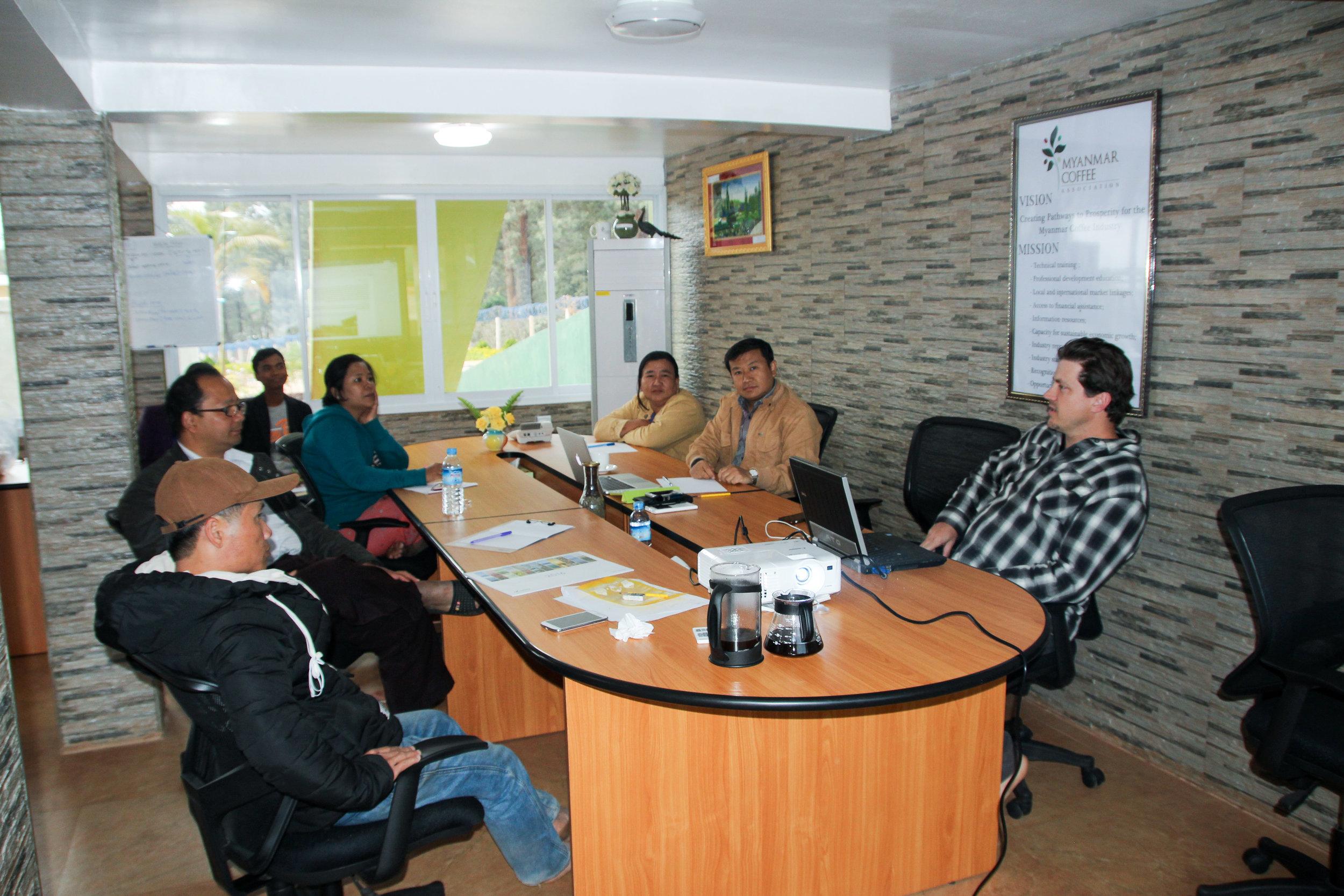 Joel Meeting with Mandalay Coffee Group Board Members