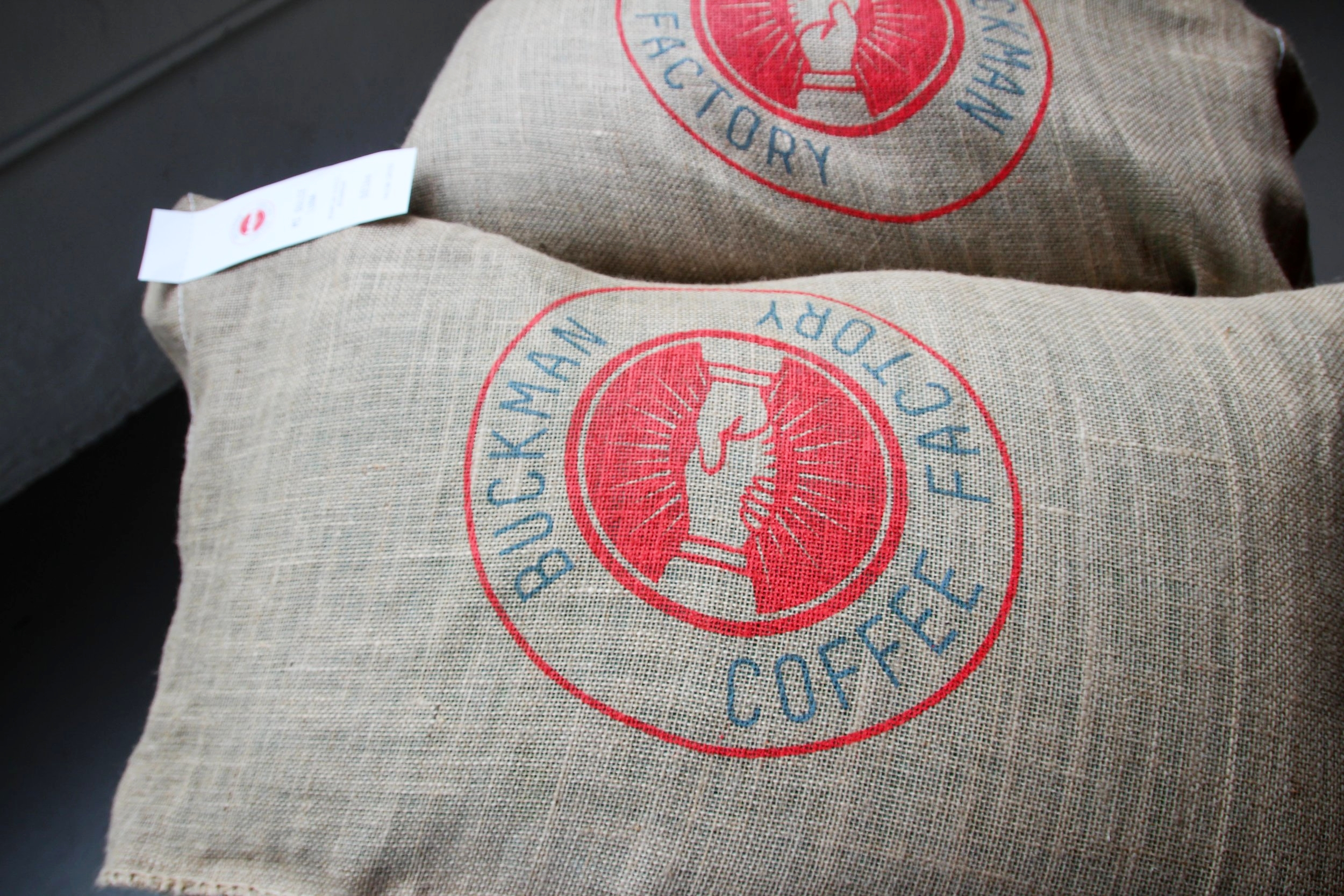 Buckman Coffee Factory Burlap Bags