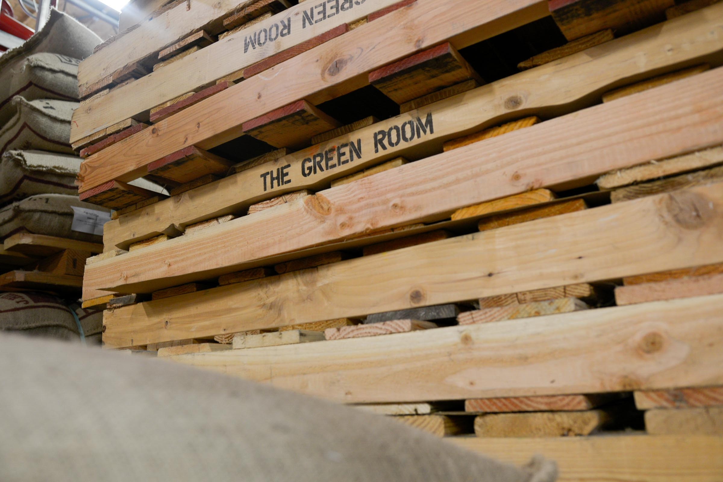 Green Room Coffee Pallets