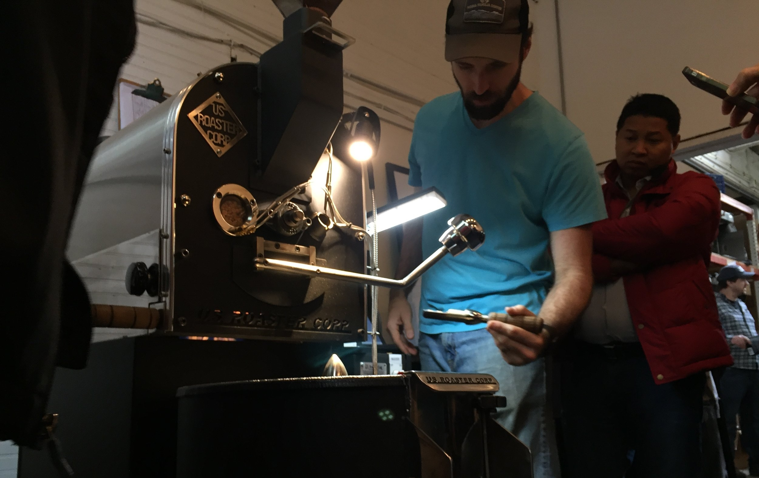 Coffee Roasting Lesson from Rob Hoos