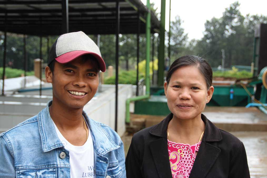 POWER COUPLE: Mya Mya Aye (left) and Myo Thet Htun work for the  Mandalay Coffee Group .