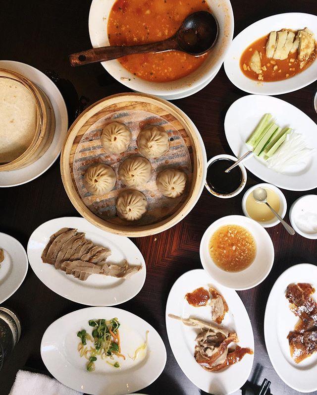 A tale of two cities: roast duck meets soup dumplings.