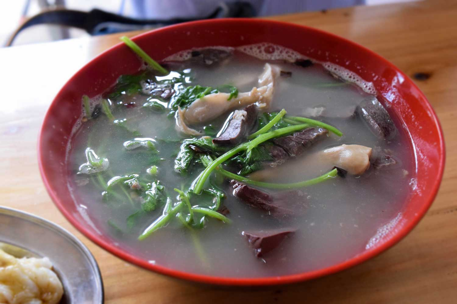 Offal soup with Chinese motherwort